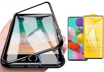 Etui 360 MAGNETIC Samsung GALAXY A71 czarny + szkło 5D