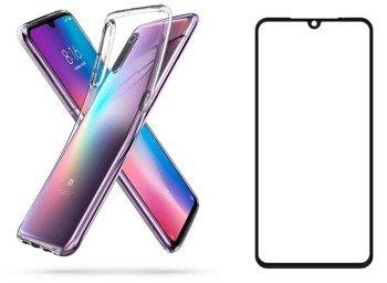 Etui Spigen LIQUID Crystal Xiaomi Mi9 przezroczysty +szkło 5D
