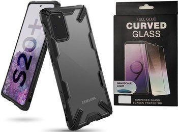 Etui pancerne RINGKE FUSION X Samsung Galaxy S20+ PLUS BLACK +szkło UV