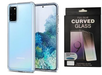 Etui pancerne SPIGEN ULTRA HYBRID Samsung Galaxy S20+ PLUS CRYSTAL CLEAR +szkło UV