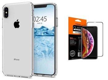 SPIGEN LIQUID CRYSTAL IPHONE XS MAX  CRYSTAL +szkło SPIGEN FC
