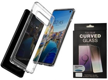 SPIGEN ULTRA HYBRID GALAXY S10 CRYSTAL CLEAR +szkło UV