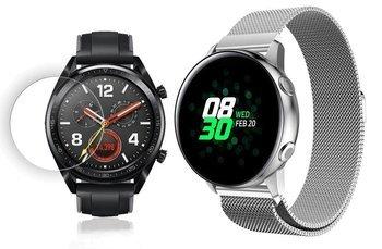 TECH-PROTECT MILANESE opaska pasek bransoleta BAND Huawei Watch GT Classic/Sport/Active 46mm SILVER +szkło hartowane na ekran