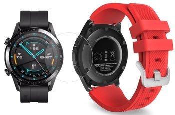 TECH-PROTECT SOFT opaska pasek bransoleta BAND Huawei Watch GT 2 46mm RED +szkło