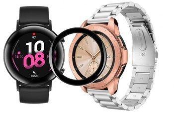 TECH-PROTECT opaska pasek bransoleta STAINLESS Huawei Watch GT 2 42MM SILVER + szkło 5D