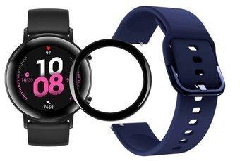 opaska pasek bransoleta GEARBAND Huawei Watch GT 2 42MM granatowa + szkło 5D