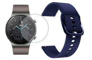 opaska pasek bransoleta GEARBAND Huawei Watch GT 2 PRO 46mm granatowa +szkło hartowane na ekran
