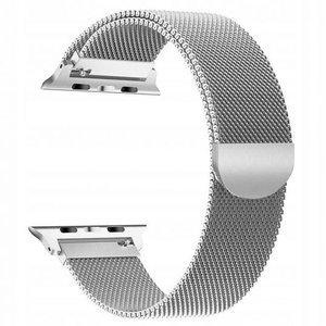 opaska pasek bransoleta MILANESEBAND Apple Watch 1/2/3/4/5 42/44mm SILVER