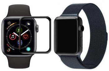 opaska pasek bransoleta MILANESEBAND Apple Watch 4/5/6/SE 40mm SPACE GRAY +szkło 5D