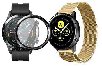 opaska pasek bransoleta MILANESEBAND Huawei Watch GT 2 46MM GOLD +szkło 3D