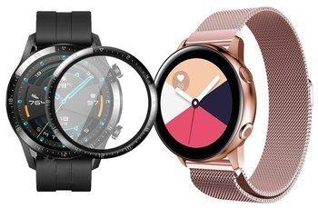 opaska pasek bransoleta MILANESEBAND Huawei Watch GT 2 46MM Różowa +szkło 3D