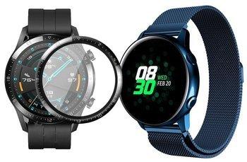 opaska pasek bransoleta MILANESEBAND Huawei Watch GT 2 46MM niebieska +szkło 3D