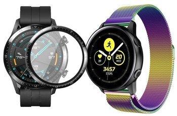 opaska pasek bransoleta MILANESEBAND Huawei Watch GT 2 46MM tęczowa +szkło 3D