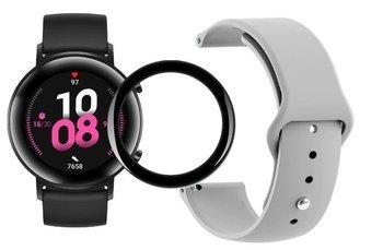 opaska pasek bransoleta SMOOTHBAND Huawei Watch GT 2 42MM szara + szkło 5D