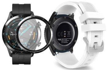 opaska pasek bransoleta SOFTBAND Huawei Watch GT 2 46MM WHITE +szkło 3D