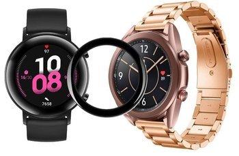 opaska pasek bransoleta STAINLESS Huawei Watch GT 2 42mm BLUSH GOLD +szkło 5D