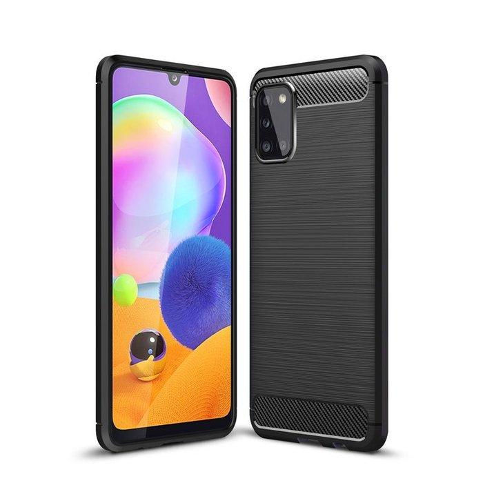 Etui Pancerne Karbon Samsung Galaxy A31 Czarny Etui Inne Gumowe Etui Inne Pancerne Samsung Galaxy A31 8 95 Zl