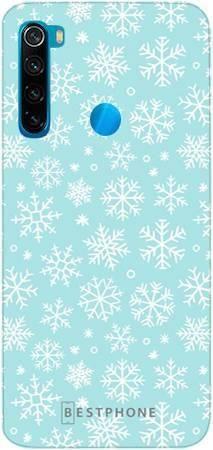 etui błękitne śnieżynki