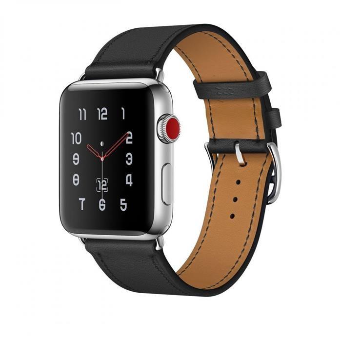 Tech Protect Opaska Pasek Bransoleta Herms Apple Watch 1 2 3 Black 42mm Akcesoria Gsm Do Smartwatchy Apple Watch 3 42mm Apple Watch 2 42mm Apple Watch 1 42mm Apple
