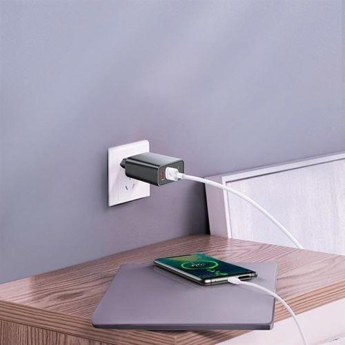 Baseus Speed Dual ładowarka sieciowa 30W adapter EU USB Quick Charge 3.0 QC3.0 czarny (CCFS-E01)