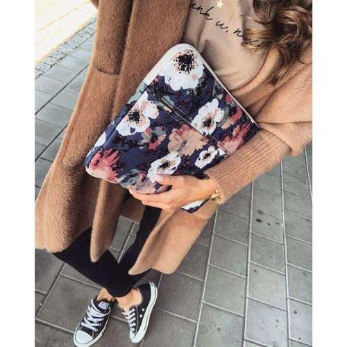 CANVASLIFE etui pokrowiec SLEEVE MACBOOK PRO 15 WHITE ROSE