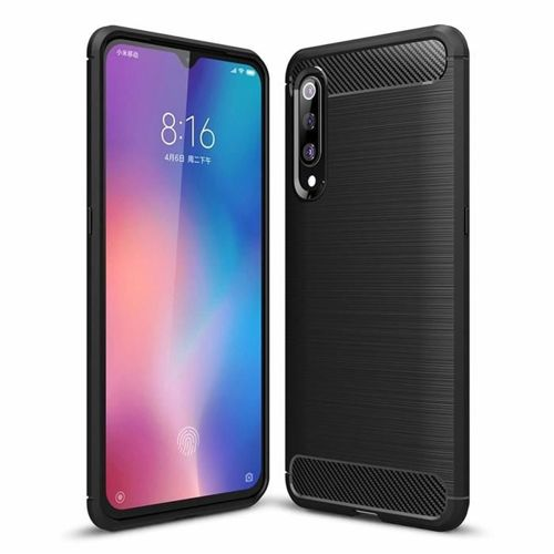 Carbon Case elastyczne etui pokrowiec Xiaomi Mi 9 SE czarny