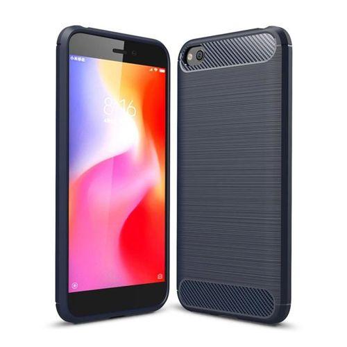 Carbon Case elastyczne etui pokrowiec Xiaomi Redmi Go niebieski