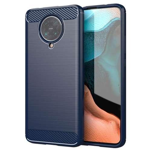 Carbon Case elastyczne etui pokrowiec Xiaomi Redmi K30 Pro / Poco F2 Pro niebieski
