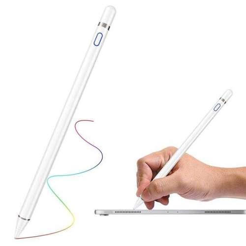 Cartinoe pojemnościowy rysik stylus pen do iPad z cienką końcówką 1,5 mm biały