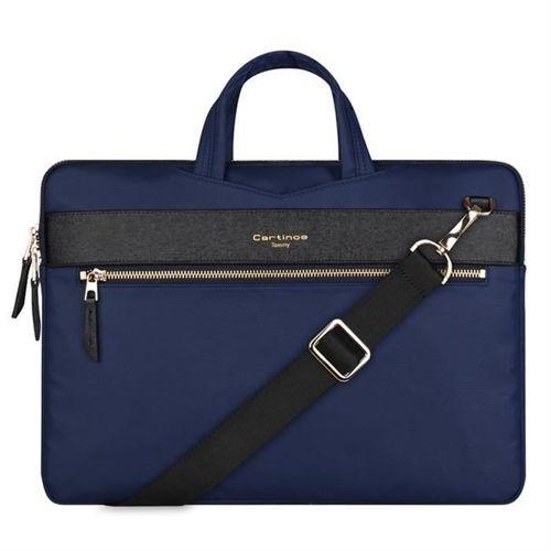 Cartinoe torba na laptopa London Style Series 13,3 cala niebieska