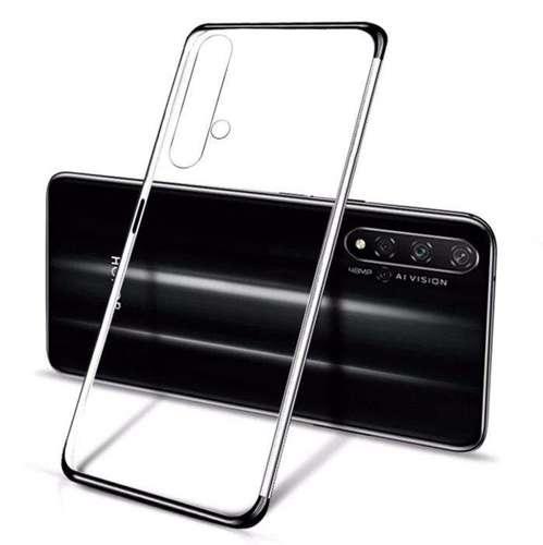 Clear Color case żelowy pokrowiec etui z metaliczną ramką Huawei Nova 5T / Honor 20 / Honor 20 Pro / Honor 20S czarny
