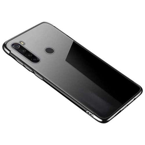 Clear Color case żelowy pokrowiec etui z metaliczną ramką Motorola G8 Play czarny