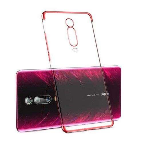 Clear Color case żelowy pokrowiec etui z metaliczną ramką Xiaomi Mi 9T / Xiaomi Mi 9T Pro czerwony