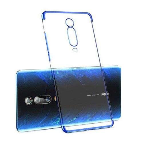 Clear Color case żelowy pokrowiec etui z metaliczną ramką Xiaomi Mi 9T / Xiaomi Mi 9T Pro niebieski