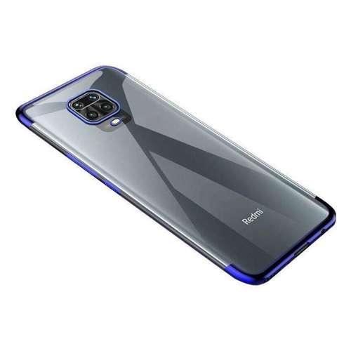 Clear Color case żelowy pokrowiec etui z metaliczną ramką Xiaomi Redmi 10X 4G / Xiaomi Redmi Note 9 niebieski