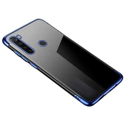 Clear Color case żelowy pokrowiec etui z metaliczną ramką Xiaomi Redmi Note 8T niebieski