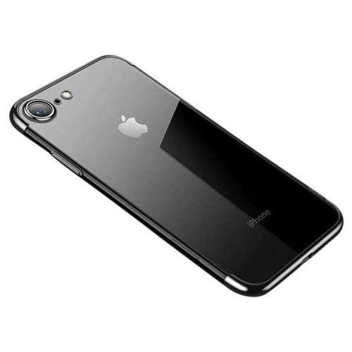 Clear Color case żelowy pokrowiec etui z metaliczną ramką iPhone SE 2020 / iPhone 8 / iPhone 7 czarny
