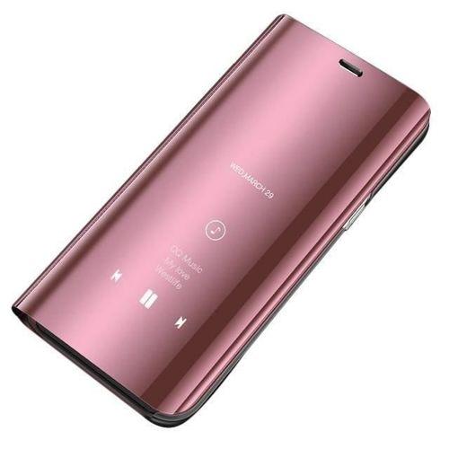 Clear View Case futerał etui z klapką Huawei P Smart 2019 różowy