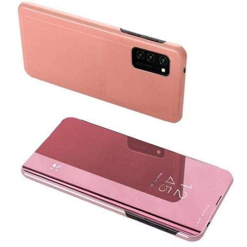 Clear View Case futerał etui z klapką Huawei P Smart 2021 różowy
