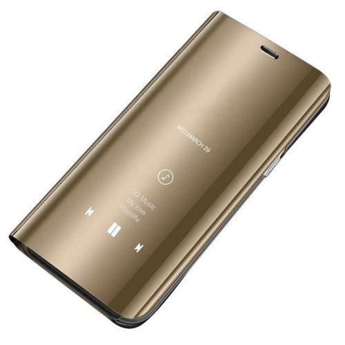 Clear View Case futerał etui z klapką Huawei P30 Lite złoty