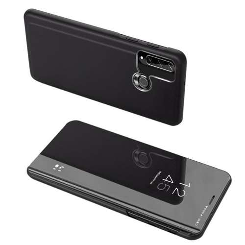 Clear View Case futerał etui z klapką Huawei Y6p czarny