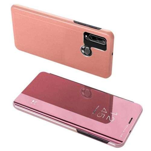 Clear View Case futerał etui z klapką Huawei Y6p różowy