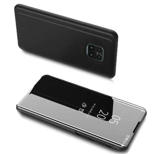 Clear View Case futerał etui z klapką Motorola Moto G9 Play / Moto E7 Plus czarny