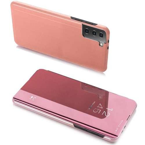 Clear View Case futerał etui z klapką Portfel Samsung Galaxy S21 5G różowy