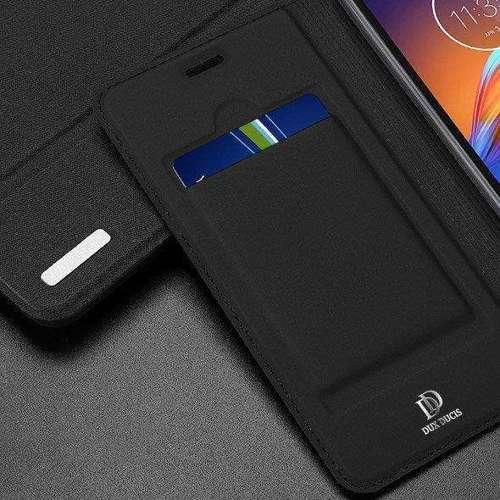 DUX DUCIS Skin Pro kabura etui pokrowiec z klapką Motorola Moto E6 Play czarny