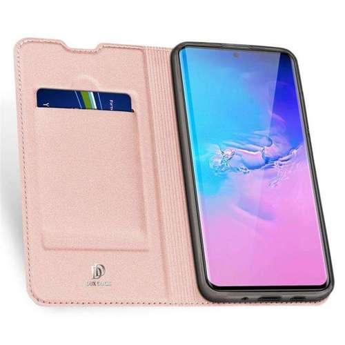 DUX DUCIS Skin Pro kabura etui pokrowiec z klapką Samsung Galaxy S20 Ultra różowy