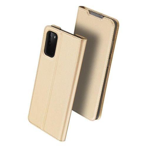 DUX DUCIS Skin Pro kabura etui pokrowiec z klapką Samsung Galaxy S20 złoty