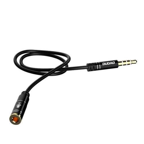 Dudao 4 polowy kabel przewód przedłużacz AUX 3,5 mm mini jack 1m srebrny (L11S silver)