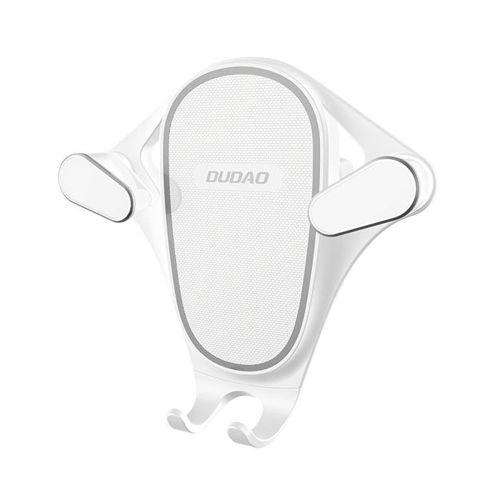 Dudao grawitacyjny uchwyt samochodowy na kratkę wentylacyjną nawiew biały (F5S white)