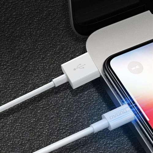 Dudao przewód kabel USB / USB Typ C 3A 1m biały (L1T white)